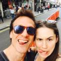 Simon and Chrissy - tweeted by @Roxanne_Mckee