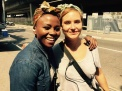 Lindsay & Koketso Mbuli from the costume dept. - posted by @LukeAllenGale