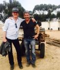 Anthony Head and Deran Sarafian on set - posted by @DeranSarafian