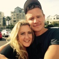 Chris Egan and Kerry Skelton (make-up artist) - posted by @MrChrisEgan
